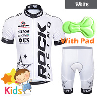 4 Colors Kids MTB Cycling Clothing Set Short Sleeve 3D Gel Shorts Suit Children's Cycling Jersey Set Boys Girls Bike Wear