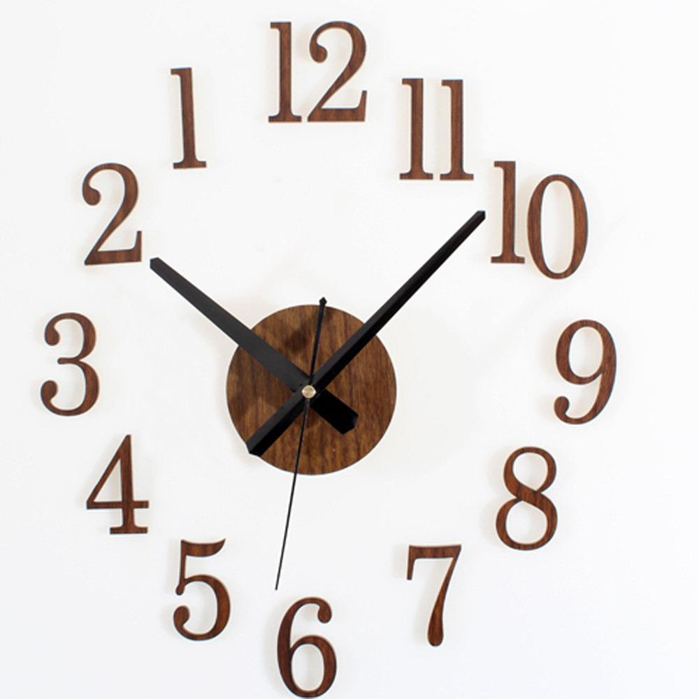 Creative reverse wall clock modern unique digital arabic for Country living customer service number