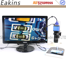 Wholesale prices All set 2.0MP Digital Industrial Microscope VGA Camera 1/3+100X C-Mount Lens+56 LED Ring light+stand holder For PCB /Lab repair