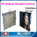 Indoor smd p6 led cabinet full color advertising rental led display board 576*576mm indoor led video wall screen