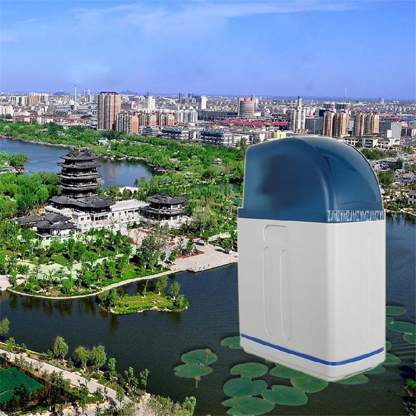 Cabinet Softener ion exchange Home water softener remove scale anti scaling water purification 8L Time type + made of resin