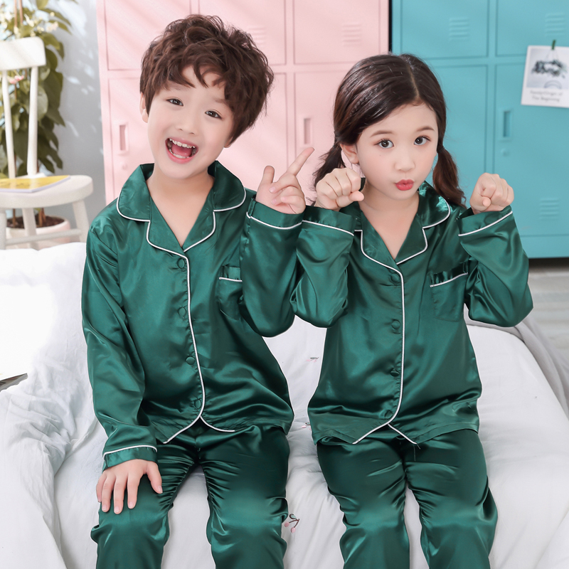 Boys Pajamas 2018 Spring And Autumn Long Sleeve Children's Clothing Sleepwear Pajamas Suit Girls Pyjamas Sets For Kids Tracksuit(China)