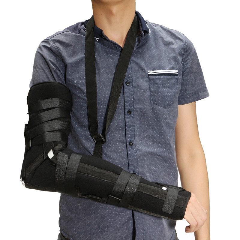 Arm Elbow Shoulder Padded Sling Brace Support Splint Strap Pain Injury Relief elbow and wrist stabilizing brace fixation support brace for injury or hurt