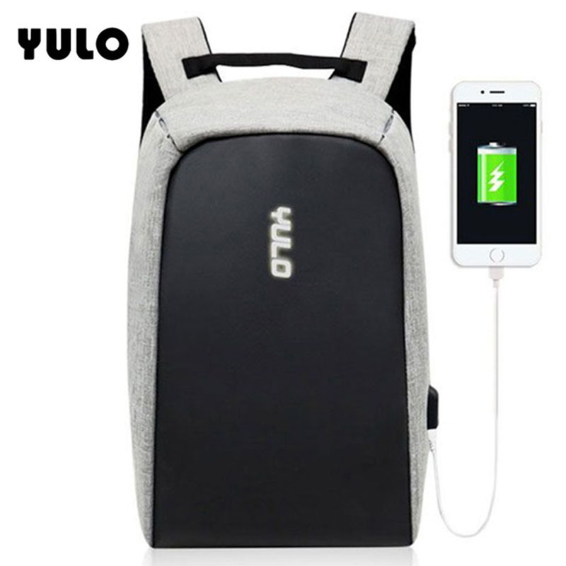 YULO Multifunction USB Charging Men 15inch Laptop Backpacks For Teenager Fashion Male Mochila Leisure Travel Anti-Theft backpack multifunction usb charging men 15inch laptop backpacks for teenager fashion male mochila leisure travel backpack anti thief