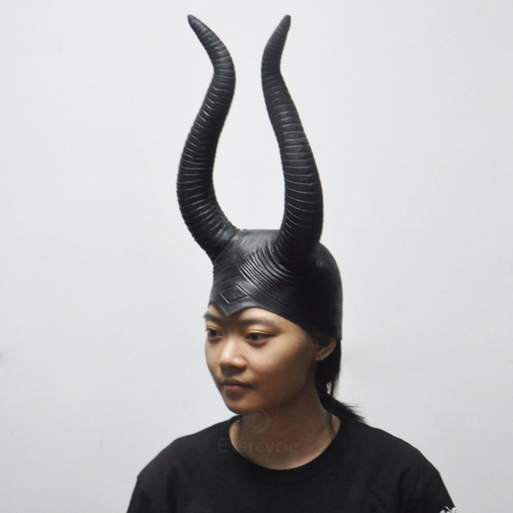 Maleficent Angelina Masks Cosplay de la Mujer Props Halloween Scary - Para fiestas y celebraciones - foto 2