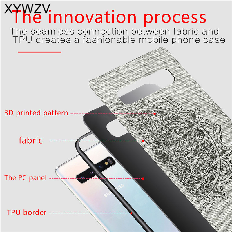 Image 3 - For Samsung Galaxy S10 Case Soft TPU Silicone Cloth Texture Hard PC Case For Samsung Galaxy S10 Back Cover For Samsung S10 Cover-in Fitted Cases from Cellphones & Telecommunications