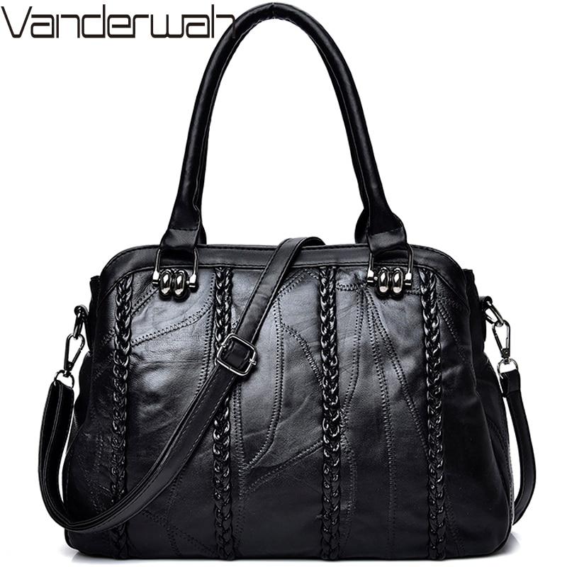 NEW Weave Fashion Casual Tote Genuine Leather Sheepskin Women Bags Handbags Women Famous Brands Fashion Shoulder Bag Ladies Sac