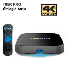 T95R Pro Android TV Box Amlogic S912 Octa Core 2GB+8GB 2GB+16GB 3GB+32GB Android 6.0 Media Player With English Russian Keyboard