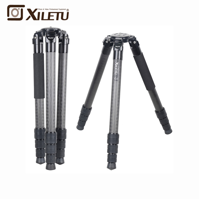 XILETU L404C Luxury Carbon Fiber Tripod Bird Watching Without Mid Axle 40mm Large Tube for Digital