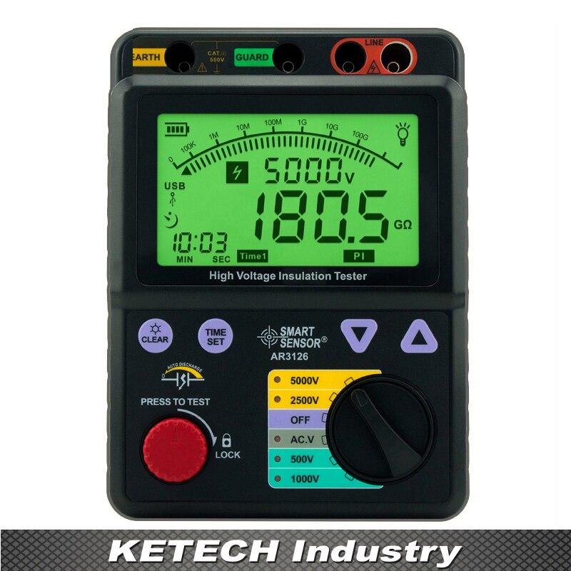 AR3126 Digital High Voltage Insulation Tester 500V/1000V/2500V/5000V