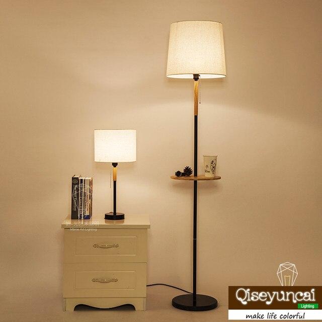 Qiseyuncai 2018 nouveau moderne minimaliste mode chaud lampadaire américain salon chambre étude lit solide bois lampe de table