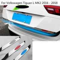 Car Rear Back Door License Tailgate Bumper Frame Plate Trim Trunk 1pcs For Volkswagen VW Tiguan