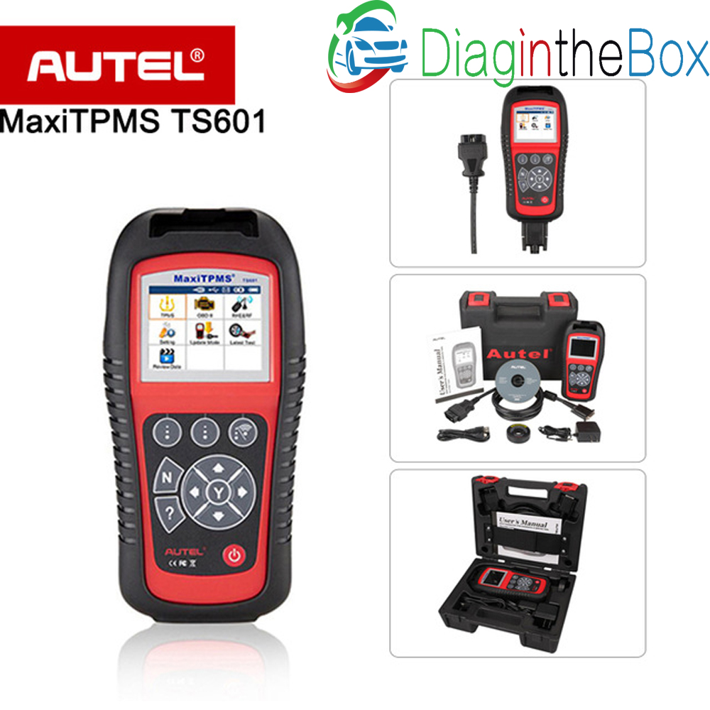 <font><b>AUTEL</b></font> <font><b>MaxiTPMS</b></font> <font><b>TS601</b></font> TPMS diagnostic & service tool activate TPMS sensors / Reprogram vehicle's ECU / Turn off warning lights image