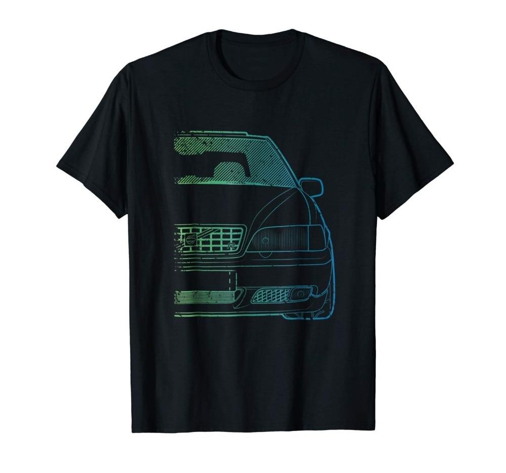 Classic Racing V-70 Turbo Green Gradient New 2018 Fashion Men'S High Quality Tops Hipster Tees Custom T Shirts