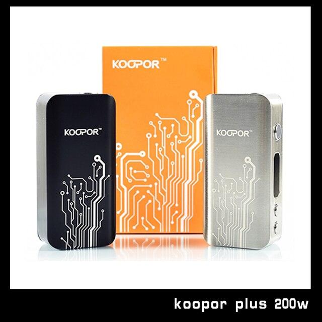 Original SMOK KOOPOR Plus 200 W Caja Mod Control de Temperatura 18650 Koopor Plus 200 W TC mecánica Mod Mod Cigarrillo electrónico 1 Unids/lote
