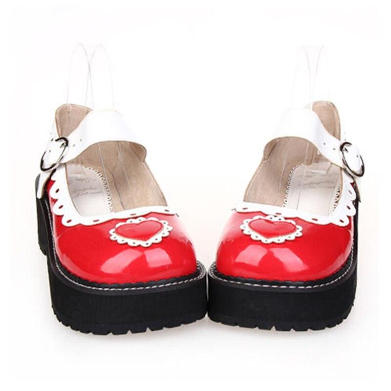 Japanese Harajuku Cute Girls Lolita Cosplay Mary Jane Shoes Sweatheart Princess Girls Platform Wedge Shoes парогенератор philips perfectcare aqua pro gc9315