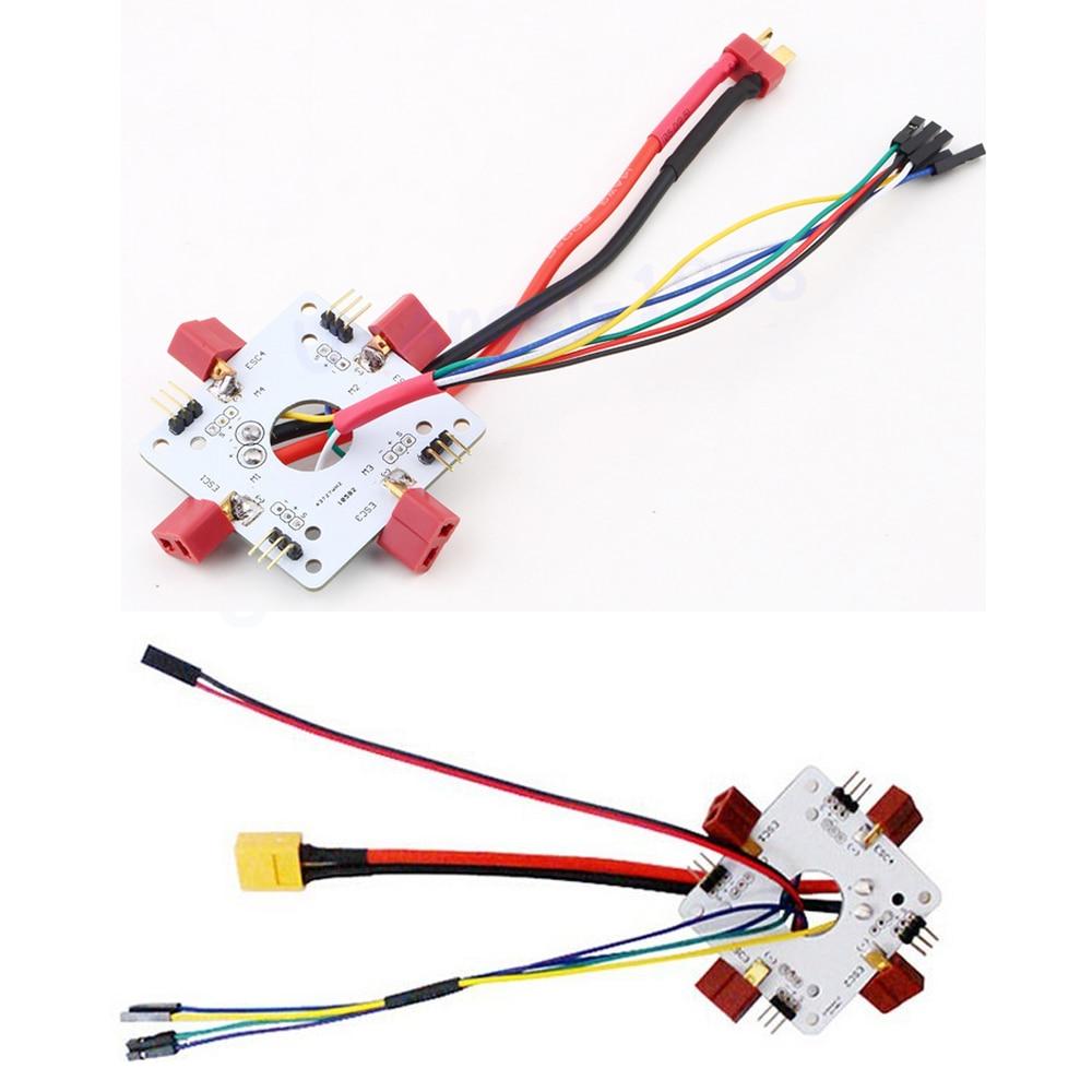 1pcs APM PX4 Quadcopter T Plug XT60 Power Distribution Board ESC Connecting Board