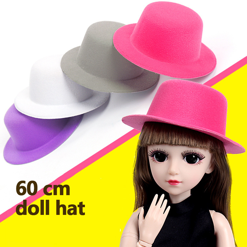 American Girl Doll Clothes Hat Decoration Doll Accessories 60cm Doll Hat High Hat Round Hat Accessories Headwear Jewelry Reborn