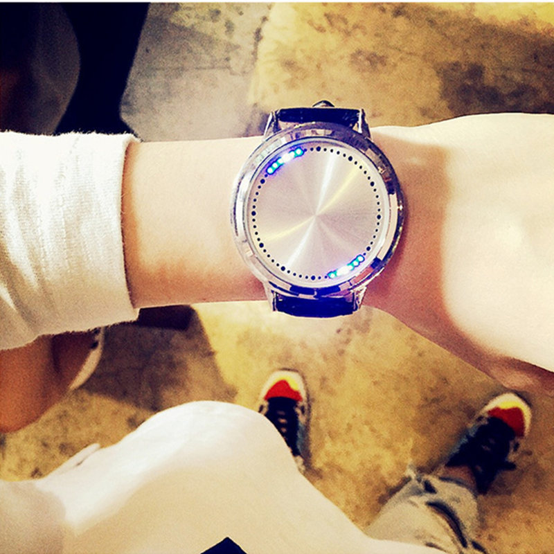 Simple creative touch screen watch fashion trend couple smart technology cool students watches men and women gifts LED watchSimple creative touch screen watch fashion trend couple smart technology cool students watches men and women gifts LED watch