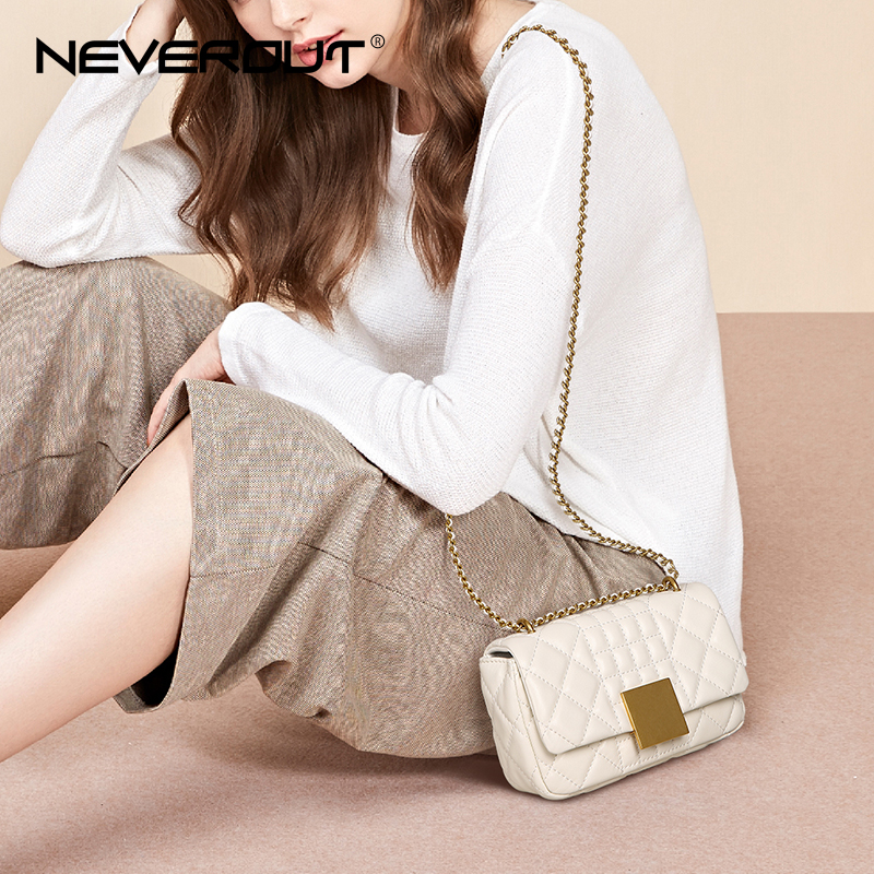 NEVEROUT Women Messenger Bags Soft Real Leather Luxury Chain Bag Solid Fashion Mini Sheepskin Cross Body Bag Designer Handbag все цены