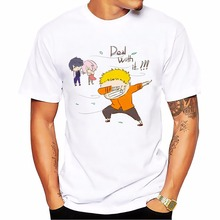 Anime Naruto Funny White T-Shirt in 3 Styles