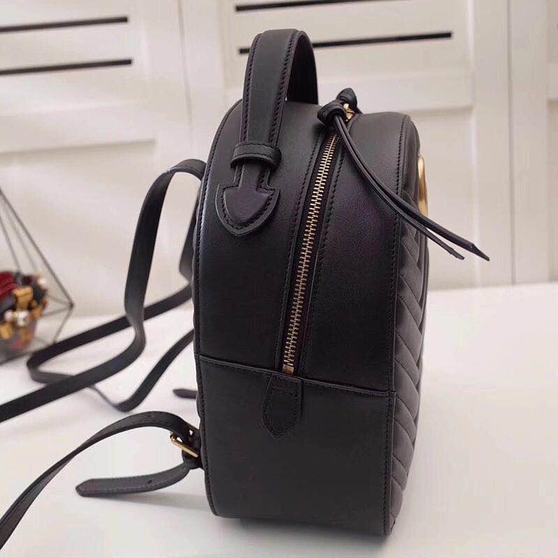 Marque Qualité Luxe Nouveau En De Femme Style Noir Dos Pour Livraison Mode Gratuite Cuir Supérieure Véritable Sac La 2019 À nz4XWt