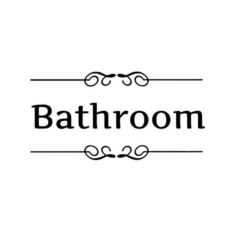 Haodeba Wc badezimmer tür Eingang Zeichen wandaufkleber dekoration ...