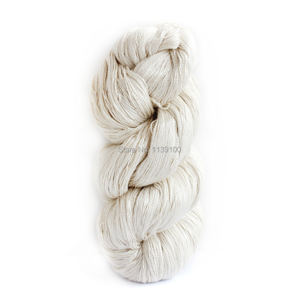 Hand Knitting Yarn Design : G hank pure silk yarn undyed hand knitting