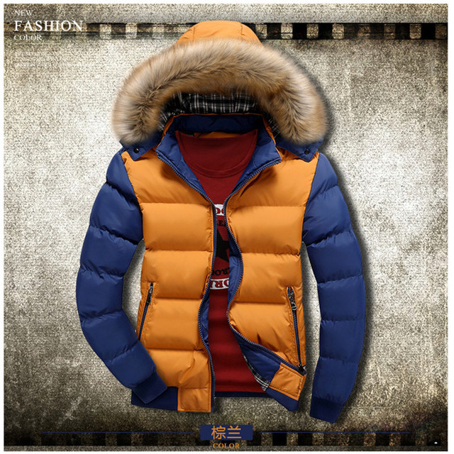 New 2018 Winter Jacket Men Warm Down Jacket Casual Parka Men padded Winter Patchwork Jackets Casual Handsome Cotton clothing Men