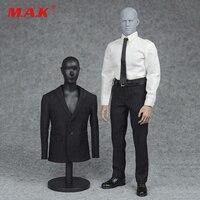1 6 Male 3 Color Formal Suit Shoes Clothes Set Black Navy Blue Grey Color For