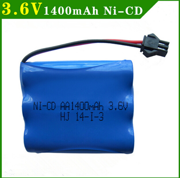 Cncool 3.6v battery pack rechargeable 1400mah ni-cd battery nicd aa 3.6v pack 1.2v 1500mah batteries for rc cars 5563A 3.6v toys