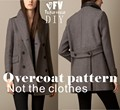 Clothing DIY Overcoat Sewing Pattern Coat Sewing Template Cutting drawing BFY-43