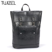 2016 New Design Pu Unisex Leather Backpacks School Bags Students Backpack Men Women Travel Bags 14inch