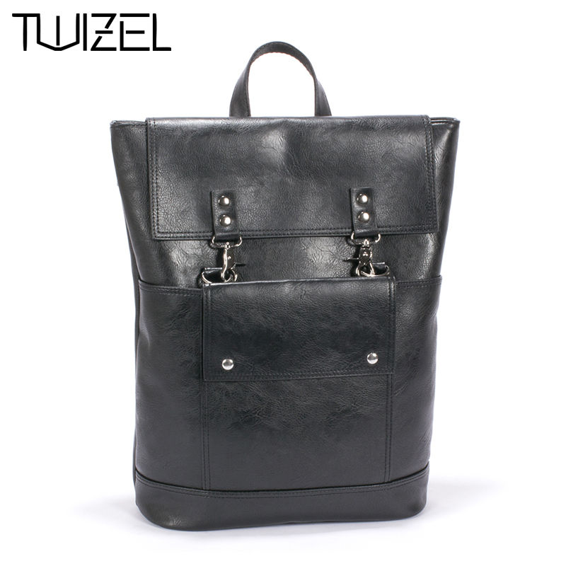 New Design Pu Unisex Leather Backpacks School Bags Students Backpack Men Women Travel Bags 14inch Laptop Backpack HQB1859