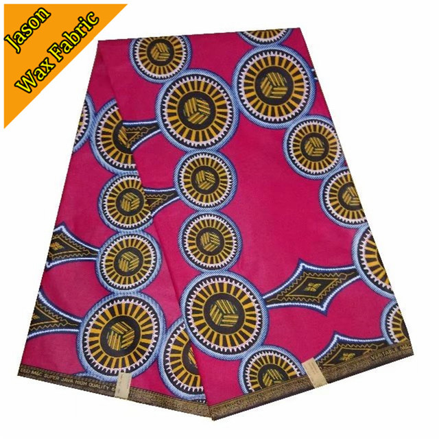 Pink Color African Wax Print Fabric Ankara Java Printed 100cotton Wholesale