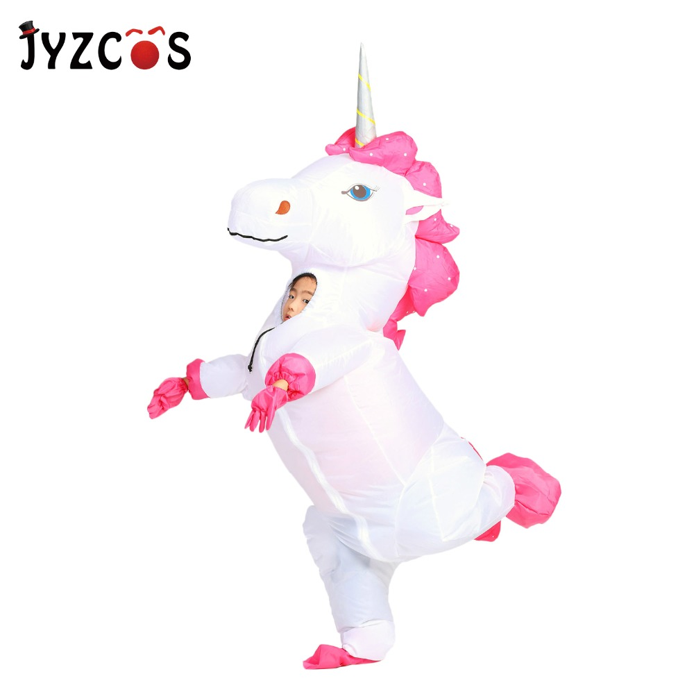 JYZCOS Inflatable Unicorn Costume Halloween Party Costume for Women Christmas Purim Cosplay Mascot Costume for Adult