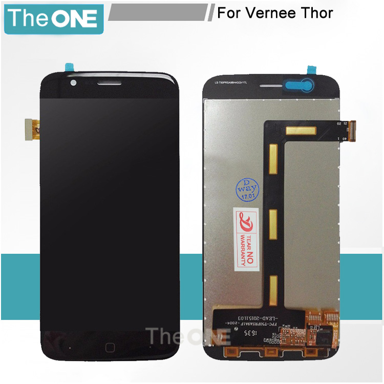 ФОТО For Vernee Thor LCD Display and Touch Screen Assembly Repair Part 5.0 inch Mobile Phone Accessories For Vernee Thor