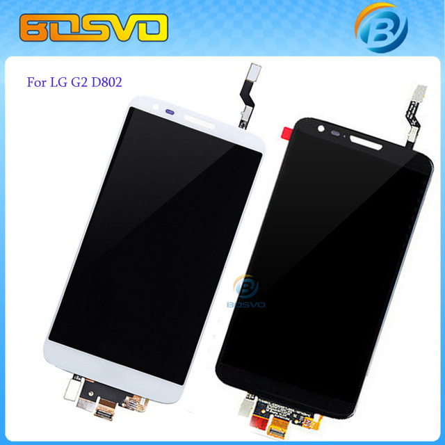 Replacement full screen for LG G2 D802 lcd display with touch screen digitizer panel assembly 1 piece free shipping+free tools