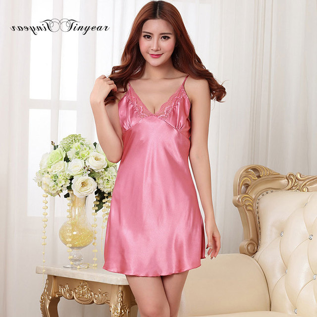 New summer robe gown set hollow out embroidery lace v neck sleepwear robe breathable rose red women brand clothing set