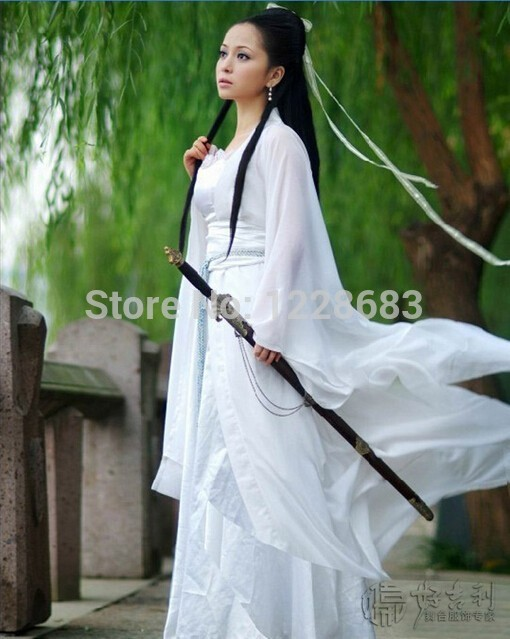 Lady Womens Hanfu Sexy Costume Ancient Chinese Dragon Fairy Costumes Quality Chiffon Clothing Cosplsy Set