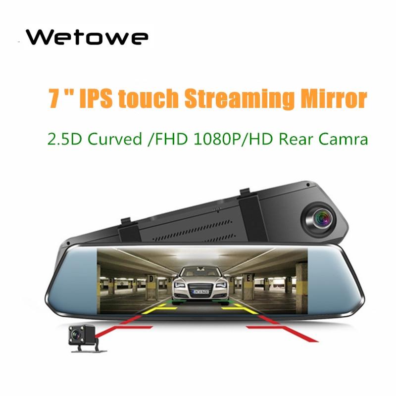 Wetowe Car DVR Record-Camera Dash-Cam Car-Video Stream Rearview-Mirror 1080 24-Parking-Line