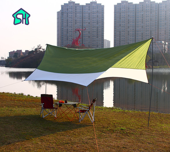 StarHome Beach Tent Sun Shelter Outdoor Garden Patio Car Cover Waterproof 3000mm Camping 4.4*4.4 Large Ultralight Pergola Awning naturehike 5 8 person huge sun shelter tent sun shade beach fishing waterproof hiking awning family pergola outdoor camping tent
