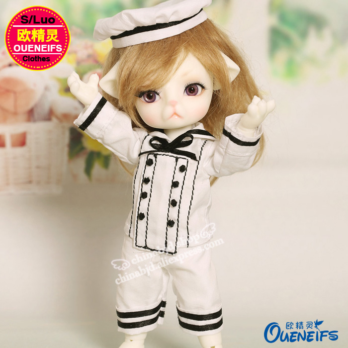 OUENEIFS free shipping,A black and white all-match baby clothes,1/8 body girl or boy doll clothes,have not wig or doll YF8 to154
