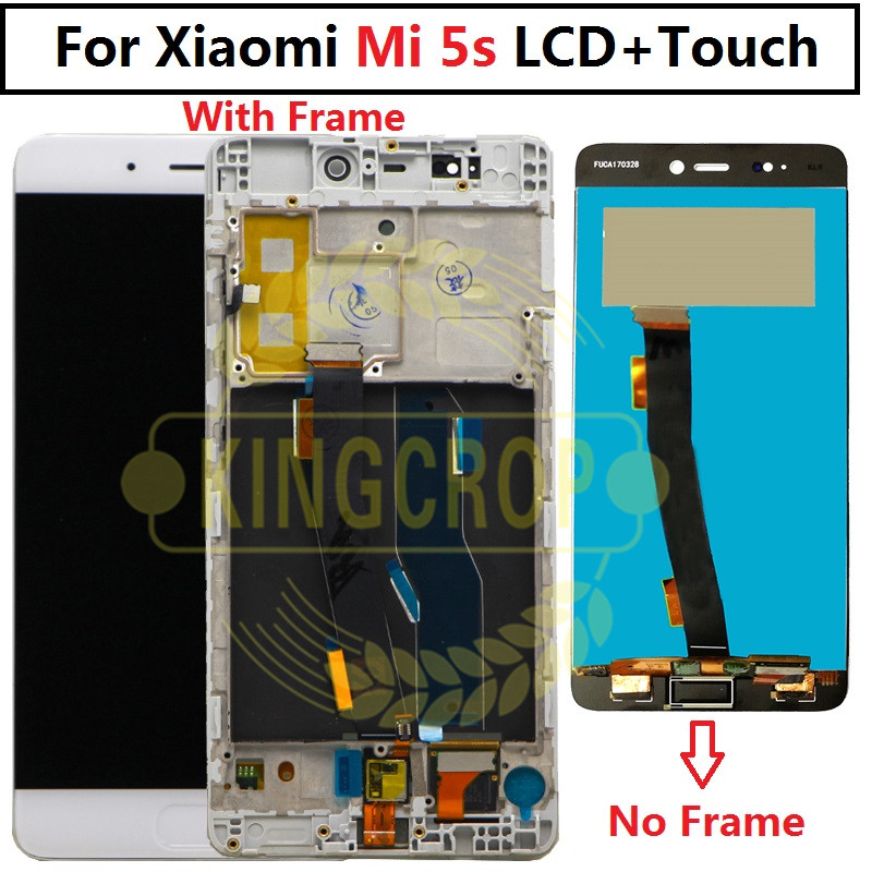 """New LCD Display For Xiaomi MI 5s Mi5s M5s Touch Screen Digitizer Assembly + Frame For Xiaomi MI5s 5.15"""" LCD Replacement"""