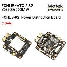 Matek Systems 5 8G 40CH 25 200 500mW Switchable Video Transmitter w FCHUB VTX 6 27V