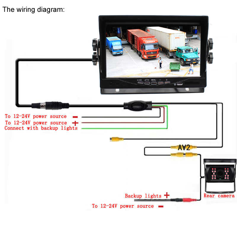 Back Up Tft Color Monitor Wiring Diagram on