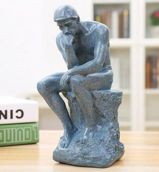 The thinker resin works of art famous figures sculpture european-style home decoration