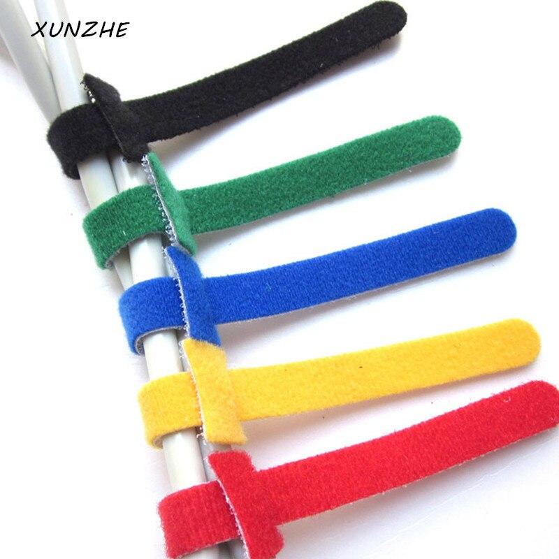 XUNZHE 20 pz Progettista di Nylon Cable tie Autoadesive Nastri di Fissaggio Fascetta Sugru Adesivo Cavo di Nylon Adesivo di Fissaggio Nastro