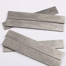 진짜 다마스커스 강철 공백 HRC58 칼 강철 DIY 공백 칼 만드는 물자 스테인리스