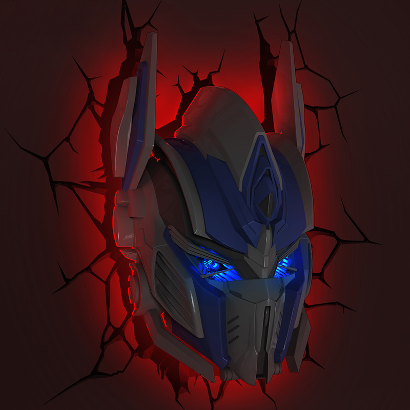 Creative Autobots LED 3D Nightlight Optimus Prime for Kid Boy Gift Wall Decoration Holiday Party Lighting IY303167-4 компрессор optimus prime 65 1 2 20mm